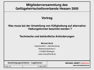Mitgliederversammlung des Gefl�gelwirtschaftsverbands Hessen 2005