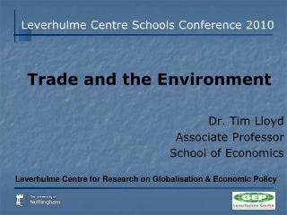 Leverhulme Centre Schools Conference 2010