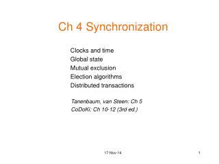 Ch 4 Synchronization