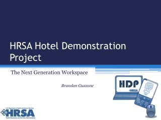 HRSA Hotel Demonstration Project