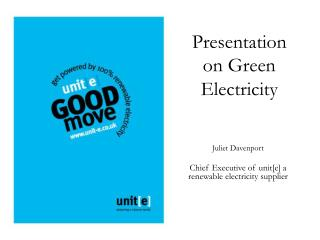 Presentation on Green Electricity