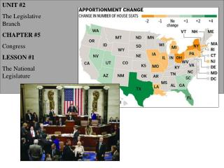 UNIT #2 The Legislative Branch CHAPTER #5 Congress LESSON #1 The National Legislature