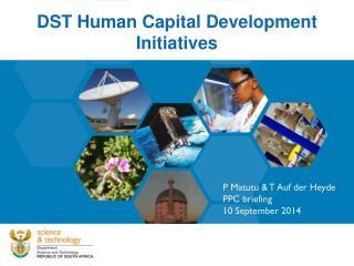 DST Human Capital Development Initiatives