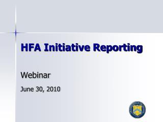 HFA Initiative Reporting