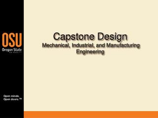 Capstone Design  Mechanical, Industrial, and Manufacturing Engineering