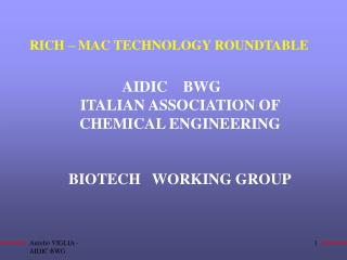 RICH � MAC TECHNOLOGY ROUNDTABLE