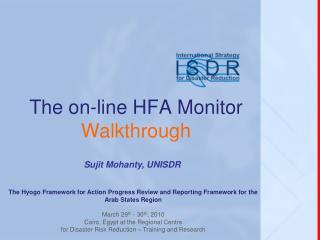 The on-line HFA Monitor  Walkthrough