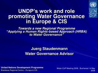 Juerg Staudenmann  Water Governance Advisor