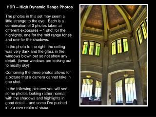 HDR – High Dynamic Range Photos