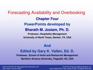 Forecasting Availability and Overbooking