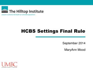 HCBS Settings Final Rule