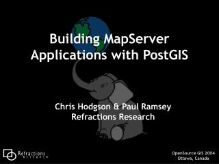 Building MapServer Applications with PostGIS