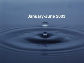 January-June 2003
