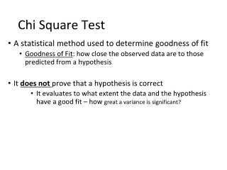 Goodness of Fit and Chi-square test