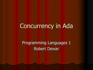 Concurrency in Ada