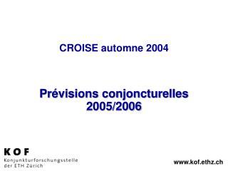 CROISE automne 2004
