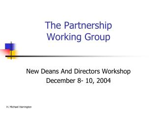 The Partnership  Working Group