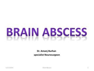 Dr. Amanj Burhan   specialist Neurosurgeon