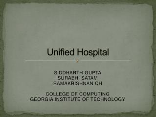 Unified Hospital