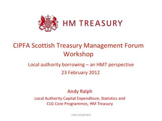 CIPFA Scottish Treasury Management Forum Workshop