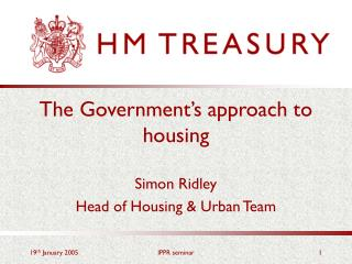 The Government's approach to housing
