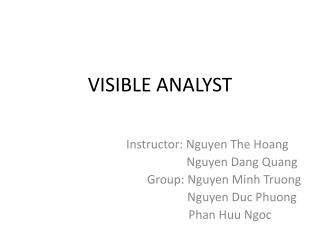VISIBLE ANALYST