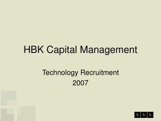 HBK Capital Management