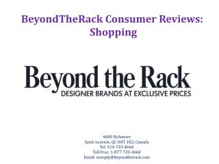 BeyondTheRack Consumer Reviews: Shopping