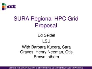 SURA Regional HPC Grid Proposal