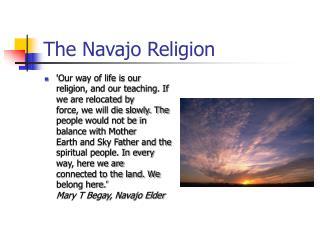 The Navajo Religion