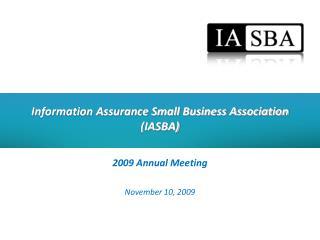 Information Assurance Small Business Association (IASBA)