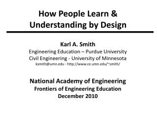How People Learn & Understanding by Design