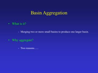 Basin Aggregation