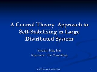 A Control Theory  Approach to Self-Stabilizing in Large Distributed System
