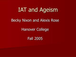 IAT and Ageism