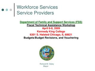 Workforce Services  Service Providers
