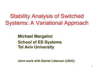 Stability Analysis of Switched Systems: A Variational Approach