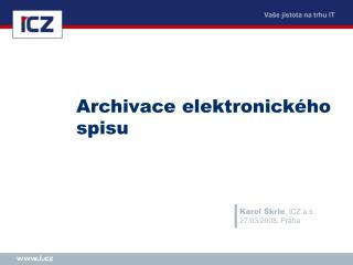 Archivace elektronického spisu
