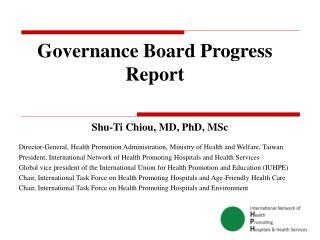 Governance Board Progress Report