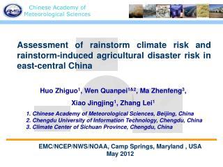 Huo Zhiguo 1 , Wen Quanpei 1&2 , Ma Zhenfeng 3 ,  Xiao Jingjing 1 , Zhang Lei 1