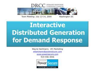 Interactive  Distributed Generation  for Demand Response