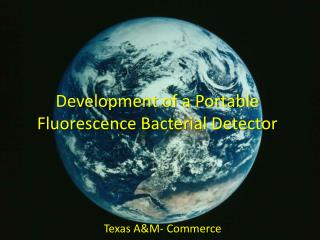 Development of a Portable Fluorescence Bacterial Detector