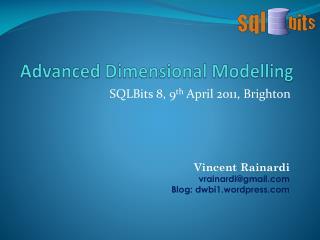 Advanced Dimensional Modelling