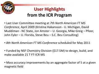User Highlights  from  the ICR  Program