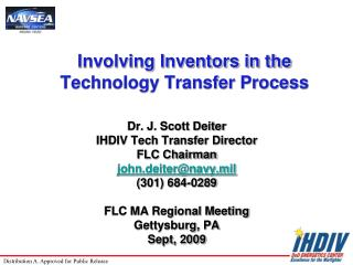 Involving Inventors in the Technology Transfer Process