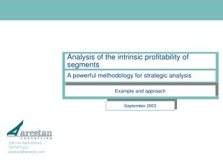 Analysis of the intrinsic profitability of segments