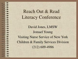 Reach Out & Read Literacy Conference