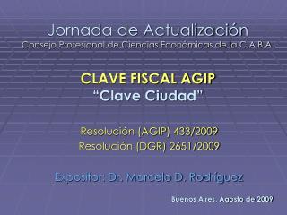 Jornada de Actualizaci�n Consejo Profesional de Ciencias Econ�micas de la C.A.B.A.