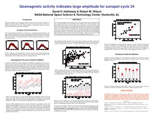 Geomagnetic activity indicates large amplitude for sunspot cycle 24