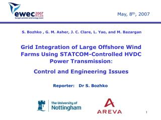 Grid Integration of Large Offshore Wind Farms Using STATCOM-Controlled HVDC Power Transmission :